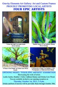 Four Epic Artists Opening Reception